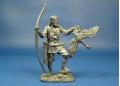 Викинг-лучник с гусем, IX-X века оловянная миниатюра