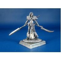 Женщина-друид Ишара Снежинка оловянная миниатюра