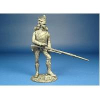 Фланкер-гренадер Императорской Гвардии, 1813 год оловянная миниатюра