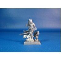 Некромант Терезия с фамильяром оловянная миниатюра для игры Pathfinder и Dungeons & Dragons