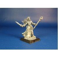Колдун Темных Эльфов Адарн оловянная миниатюра