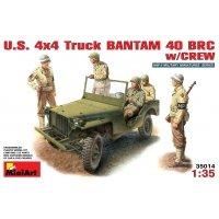 Американский джип Бантам БРЦ 40 с экипажем