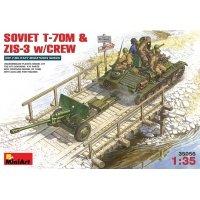 Советский танк Т-20М с пушкой ЗИС-3 и экипаж