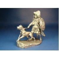 Карфагенский ветеран с собакой, 2-я пуническая война 219-202 гг. до н. э. оловянная миниатюра