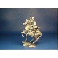 Конный самурай с катаной 1582 год оловянная миниатюра