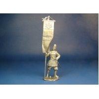 Японский воин-знаменосец 14 век оловянная миниатюра