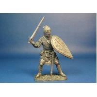 Русский воин-дружинник, XIII век оловянная миниатюра