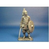 Воин княжеской дружины. Русь X век оловянная миниатюра