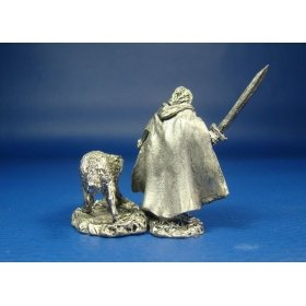 Охотник Каллен с волком оловянная миниатюра