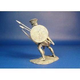 Филистимлянский тяжеловооруженный воин, XIII-XII века до н.э. Оловянная миниатюра