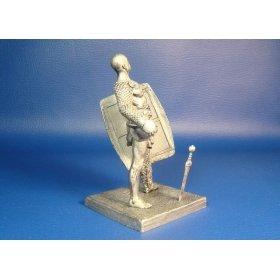 Римский гладиатор Секутор после боя оловянная миниатюра