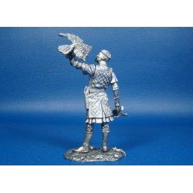 Нормандский рыцарь с соколом, XII век