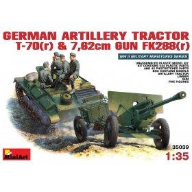 Немецкий артиллерийский тягач Т-70 с пушкой 7,62 см FK 288 c экипажем